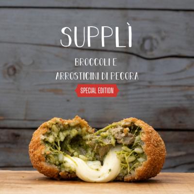 Supplì-broccoli-e-arrosticini-di-pecora